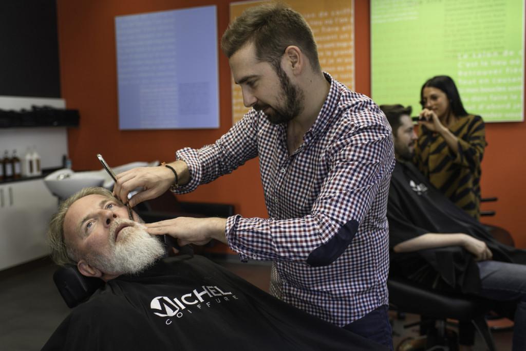 Coiffeur et barbier Michel Coiffure Photo Lib/Alain Wicht Friborug,le 8.6.2017